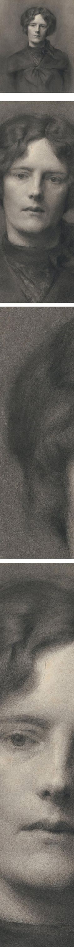 Eye Candy for Today: Florence Rodway charcoal and chalk portrait | Lines and Colors :: a blog about drawing, painting, illustration, comics, concept art and other visual arts