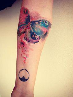 Watercolor tattoos by Ondrash | koikoikoi