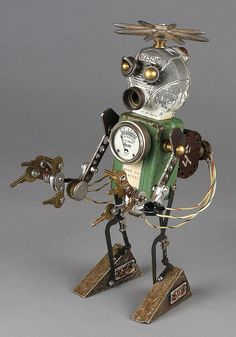nelson - found object robot assemblage sculpture by adopt-a-bot, via Flickr
