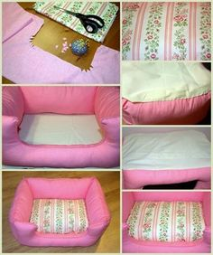 19 Stylish and Cozy Dog Beds Ideas You and Your Dogs Will Love - Hunde - Tienda para Perros Dog Crafts, Animal Crafts, Diy Dog Bed, Pet Furniture, Animal Projects, Pet Beds, Doggie Beds, Doggies, Diy Stuffed Animals