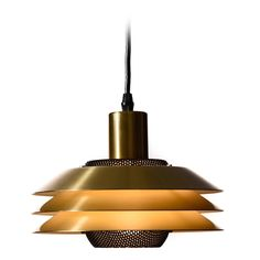Danish Modern Three-Tiered Pendant Light   From a unique collection of antique and modern chandeliers and pendants at https://www.1stdibs.com/furniture/lighting/chandeliers-pendant-lights/