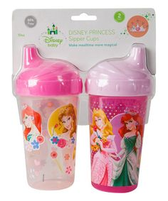 Love this New Disney Princess Hard-Spout Sippy Cup - Set of Two on #zulily! #zulilyfinds