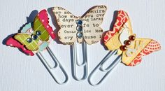 butterfly paper clips!  paper scraps