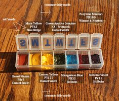 Pill Box Watercolors: Good advice on making own pigments Watercolor Kit, Watercolor Paintings, Watercolors, Watercolor Techniques, Painting Techniques, Illustrations, Illustration Art, Guache, Plein Air