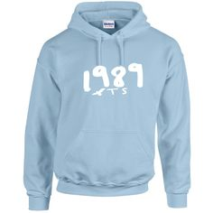 Taylor Swift Inspired 1989 Seagull Pullover Hoodie Light Blue ($33) ❤ liked on Polyvore featuring tops, hoodies, light blue, pullovers, sweaters, women's clothing, light blue hooded sweatshirt, blue pullover hoodie, blue hoodies and sweater pullover