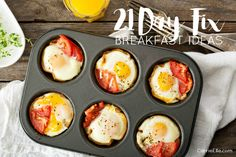 These 21 Day Fix breakfast ideas are all delicious ways to get your day started on the right foot (includes several Shakeology recipes, too!).