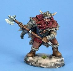 Dark Sword - Visions in Fantasy - Male Dwarven Fighter with Great Axe