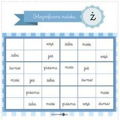 Ortograficzne sudoku – [ó] - Printoteka.pl Learn Polish, Polish Language, Our Kids, Classroom, Teaching, Education, School, Child, Speech Language Therapy