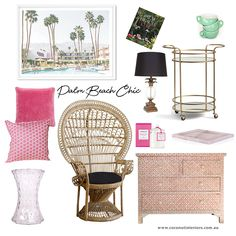 Palm Beach, Mood Boards, Wicker, Chair, Furniture, Home Decor, Decoration Home, Room Decor, Home Furnishings