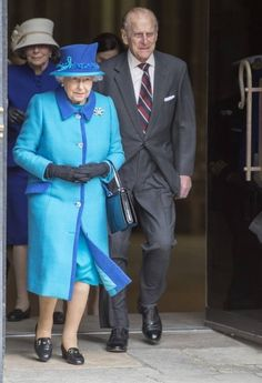 Queen Elizabeth II and Prince Philip, Duke of Edinburgh visited Canterbury Cathedral on March 26, 2015 in Kent, United Kingdom.