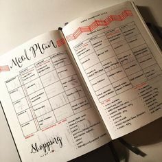 Meal Plan - Bullet Journal Page