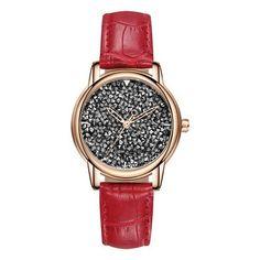 30310c3a216 SANDA Brand Fashion Women Watches 2018 Luxury Full Diamond Quartz  Wristwatch Leather Ladies Watch Woman Clock relogio feminino