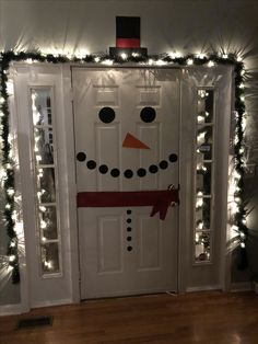 Holiday door decor! Snowman decoration