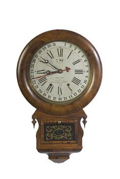 ansonia brass and copper company clock | ... ANSONIA BRASS & COPPER CO. ROSEWOOD DROP REGULATOR CALENDAR CLOCK