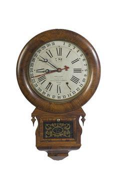 ansonia brass and copper company clock | ... ANSONIA BRASS & COPPER CO. ROSEWOOD DROP REGULATOR CALENDAR CLOCK