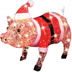 lighted christmas santa pig just purchased this at big lots
