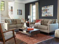 Mid-Century Jute SofaTaft Furniture Showcase : taft furniture sectionals - Sectionals, Sofas & Couches