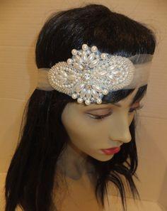 Bridal Headband Pearl Headband ALEXIA Great by BellaCescaBoutique, $35.00