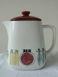 Rorstrand Sweden coffee pot Picknick Marianne Westman Scandinavian fifties