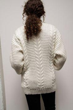 cardigan sweater, cream, cable