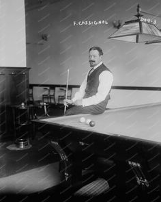 French Billiards Champ Cassignol 1890s 8x10 Reprint Of Old Photo 2