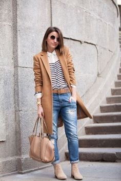tan-jacket-with-striped-tee- Stylish outfits by lovely pepa