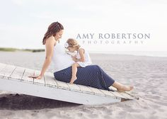 outdoor maternity with child sibling