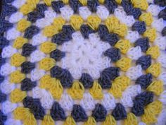 Grey, Yellow and White Baby Blanket. $24.00, via Etsy.