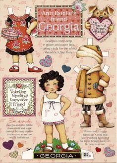Mary Engelbreit Valentine's Day Paper Doll Featuring Georgia