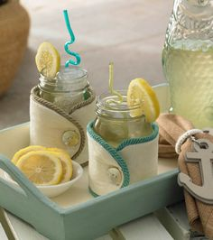 Check out these Ball Jar cozies from @Jo-Ann Fabric and Craft Stores  #summer