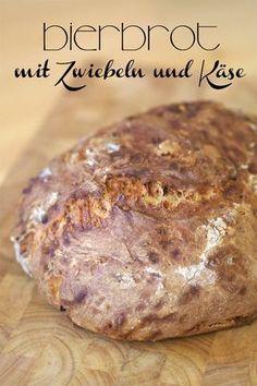 ***Bierbrot mit Zwiebeln und Käse (*alk.freies Bier und mehr Mehl...)