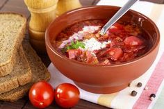 Ukrainian recipes - for a tasty life Ukrainian Recipes, Russian Recipes, Borscht, One Pot Meals, Yummy Drinks, Kimchi, Soups And Stews, Vegetable Recipes, Stuffed Mushrooms