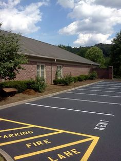 Parking Lot Sealcoating Pigeon Forge, TN aaastripepro@gmail.com  Pavement Striping, Asphalt Paving Knoxville TN Parking Stencil Sales