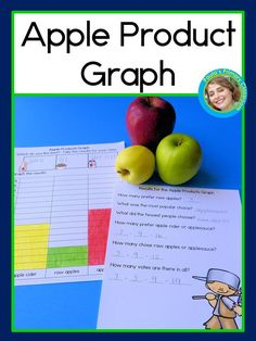 Which apple product do your students like the most?  This hands on fall math lesson is perfect for elementary classrooms to work on graphing, including interpreting data, addition and subtraction.  If desired, pair the graph with taste testing raw apples, apple cider and applesauce.  Your preschool, kindergarten and first grade students will love talking and graphing about their favorite apple foods, keeping them engaged as they learn or practice important math skills!  Common Core aligned…