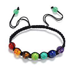 Pas cher 7 Chakra bracelet hommes Réglable Tressé Corde Guérison perles bracelet macramé arc en femmes de yoga bijoux, Acheter Charme Bracelets de qualité directement des fournisseurs de Chine:7 Chakra bracelet hommes Réglable Tressé Corde Guérison perles bracelet macramé arc-en-femmes de yoga bijoux