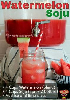 ... Soju Drinks on Pinterest | Cocktails, Cocktail recipes and Watermelon