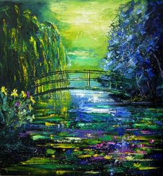 paintings by monet - Paintings of the Japanese Bridge