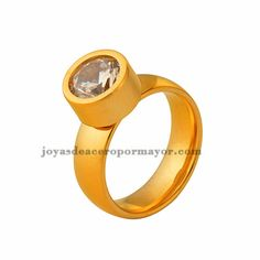 stainless steel diamond wedding ring for women-SSRGG831312