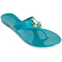 "Hot in Hollywood ""Cali Girl"" Jeweled Thong Sandal at HSN.com- perfect for strolling along the decks!"
