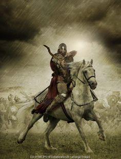 medieval warrior on horseback © CollaborationJS / Arcangel Images