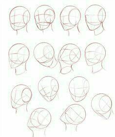 Anime Male Face, Anime Face Drawing, Face Drawing Reference, Girl Face Drawing, Drawing Heads, Drawing Face Shapes, Female Face Drawing, Pose Reference, Head Anatomy