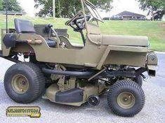 Redneck Jeep lawnmower