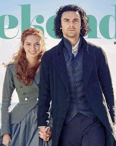 Eleanor Tomlinson and Aidan Turner as Ross & Demelza Poldark in POLDARK Season 3. 2016-2017