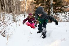 A winter without cabin fever. Click through to read the Hughes' story. // Family Trails