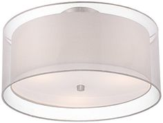 Possini Euro Design Double Drum 18 Wide White Ceiling Light -- Visit the image link more details.