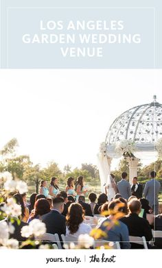 A romantic gazebo faces lush fields of green for the perfect outdoor ceremony.