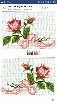 Cross Stitching, Cross Stitch Embroidery, Hand Embroidery, Cross Stitch Patterns, Embroidery Designs, 123 Cross Stitch, Cross Stitch Flowers, Beading Patterns, Crochet Patterns