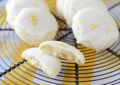 Meltaway Lemon Cookies These zesty lemon cookies are tart and lightly sweet and just melt in your mouth. Our buttery Meltaway Lemon Cookies have a soft center and are topped with a lemon sugar glaze. Cookie Desserts, Just Desserts, Cookie Recipes, Delicious Desserts, Dessert Recipes, Yummy Food, Lemon Desserts, Easter Desserts, Yummy Eats