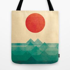 The ocean, the sea, the wave Tote Bag by Budi Satria Kwan - $22.00