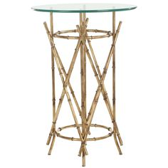 This elegant, glass, Accent table will add a timeless piece of furniture that will last generations to come. It comes with a tempered glass top that is easy to clean and a modern style brass frame that makes a great conversation piece.